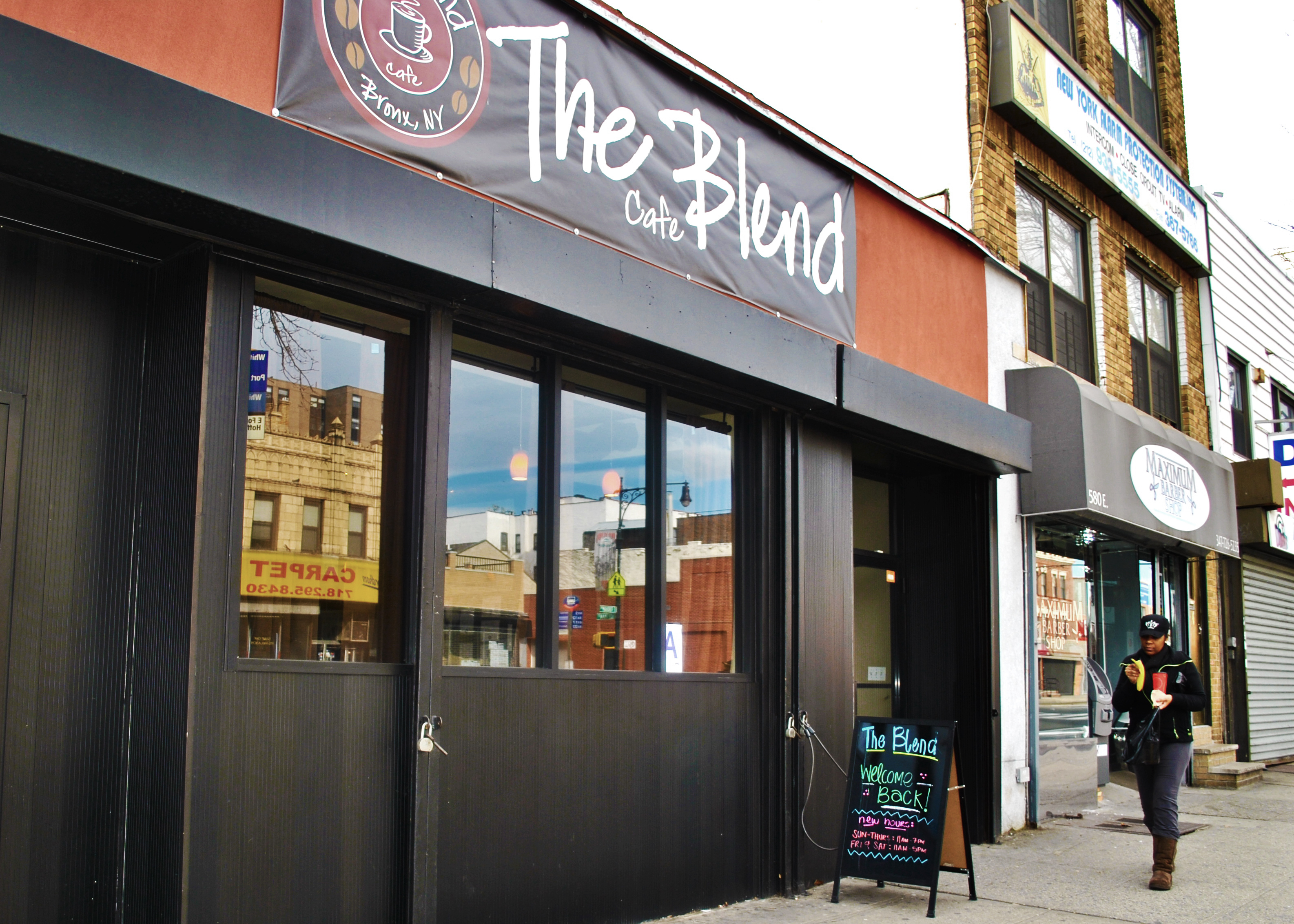 The Blend, located on East Fordham Road between Hoffman Street and Arthur Avenue, serves as a convenient place for university students to socialize and relax.