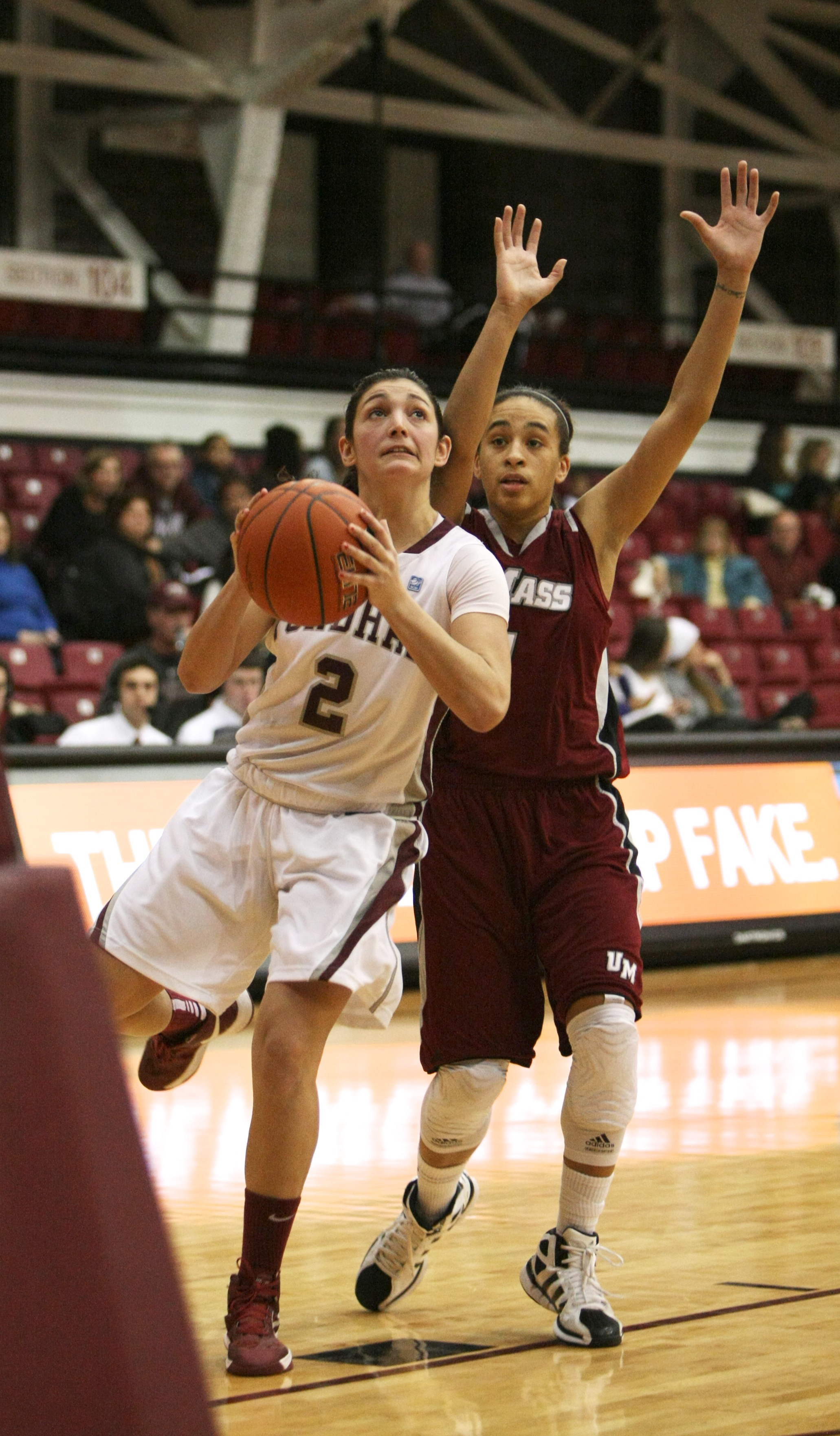 Ally White/The Ram Arielle Collins had a season-high 17 points in the Rams' loss to Duquesne.