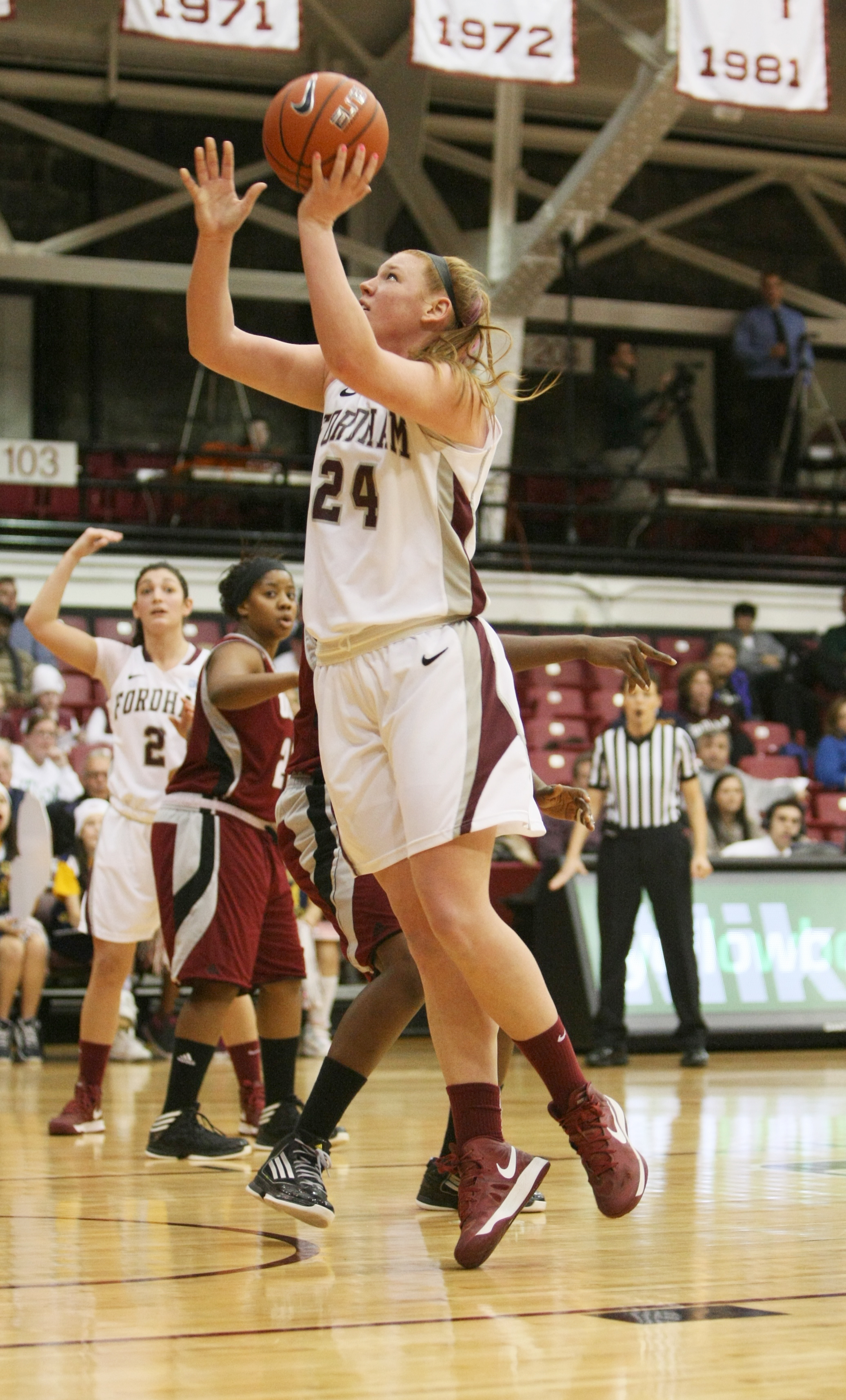 Ally White/The Ram Samantha Clark had 19 points and 11 rebounds in Fordham's loss to Duquesne.