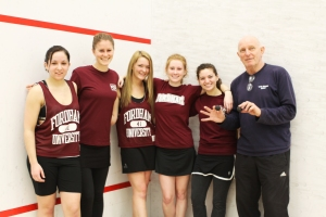 Elizabeth Zanghi/The Ram The women of Fordham's squash program played their first intercollegiate match on Saturday, losing against NYU.