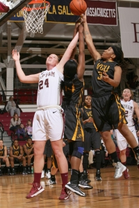 ALLY WHITE/THE RAM Samantha Clark earned A-10 Rookie of the Week honors for the third time.