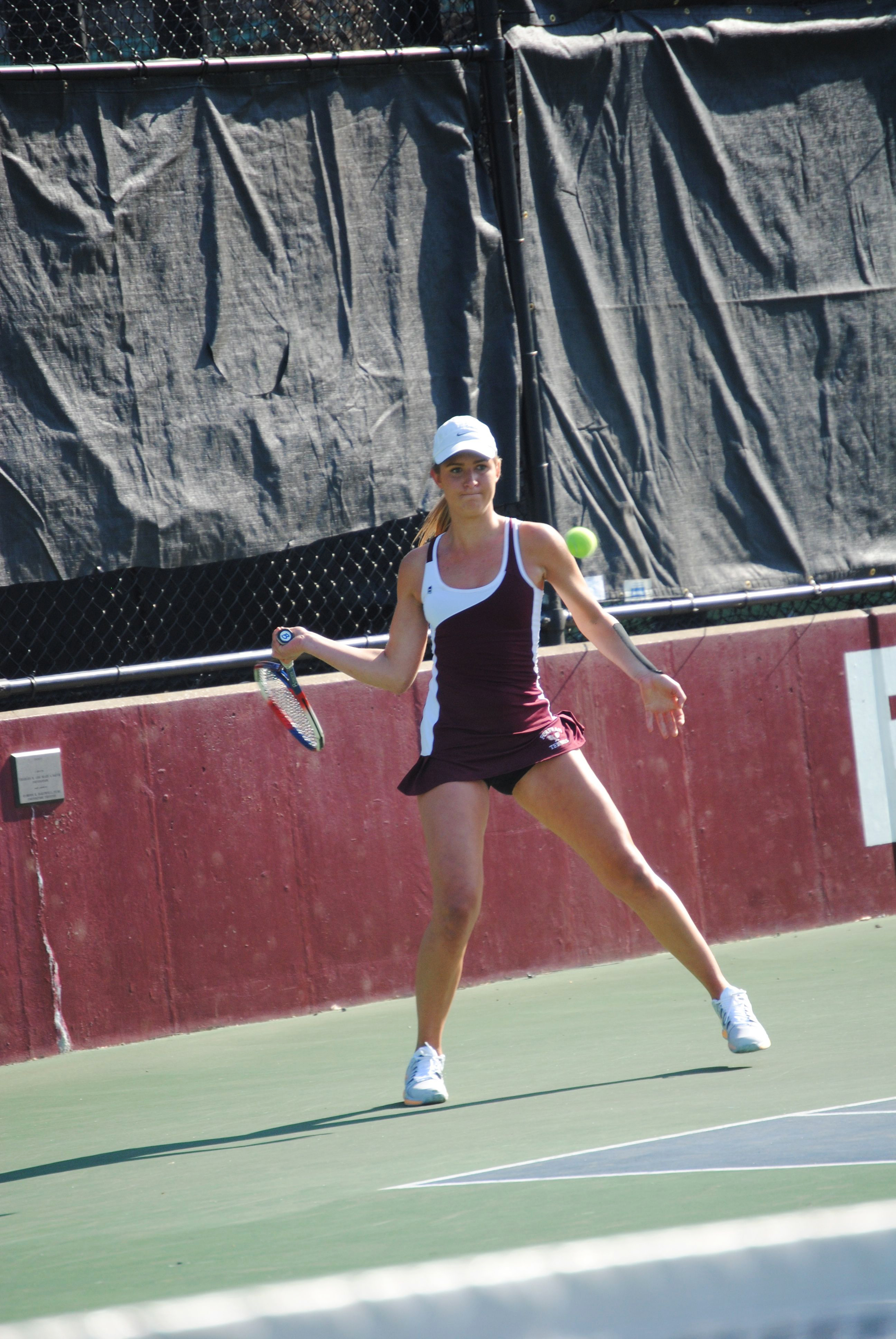 Courtesy of Drew Dipane/The Ram Anika Novacek was part of the only doubles team to win against Duquesne.