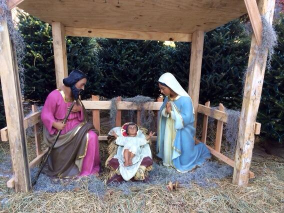 This is the first year Fordham has had a black Nativity scene on campus. (Connor Ryan/The Ram)