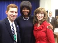 Matthew Hacke, Michelle Obama, Mary Beth Hacke