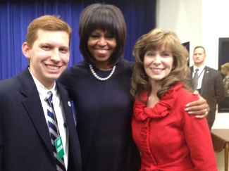 Matthew Hacke, Michelle Obama, Mary Beth Hacke