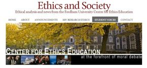 Blog Invites Students Into Discourse About Ethics