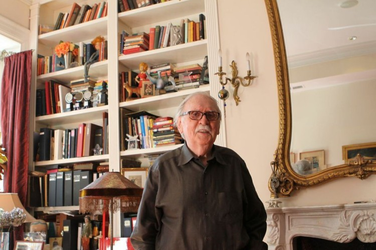 Thomas Meehan discusses his many creative endeavors, along with displaying books and mementos spanning his over 30 year career. (RICHARD BORDELON/THE RAM)