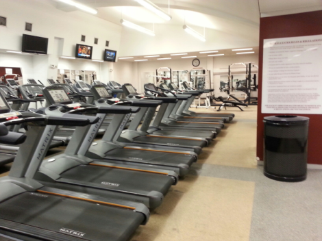 Students returning to Rose Hill for the fall semester soon found the campus with one less fitness facility. Ram Archives