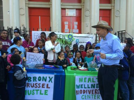 A spin-off of the ALS Ice Bucket Challenge, the Bronx Brussel Hustle aims to raise money to build a new facility at P.S. 55. Jeff Coltin/The Ram