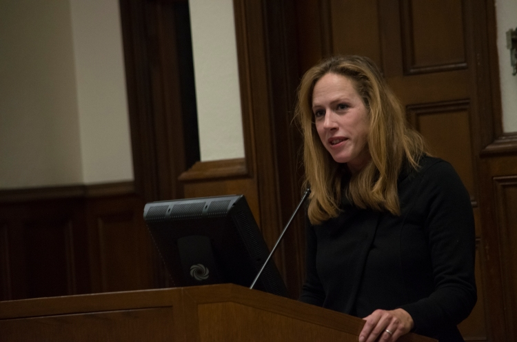 Kimberley Strassel, a columnist for The Wall Street Journal, came to Rose Hill to discuss the upcoming midterm elections. Samuel Joseph/The Ram