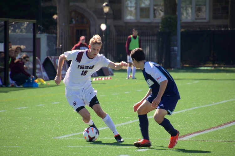 Kyle Bitterman recorded his third and fourth assists of the year in the Rams' matches against LaSalle and St. Joseph's. Christian wiloejo/ The Ram