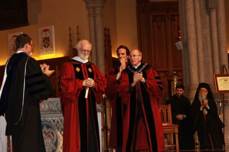 Rowan Williams, the former archbishop of Canterbury, discussed Orthodoxy and the role humanity and divinity play. (Maria Ancona/The Ram)