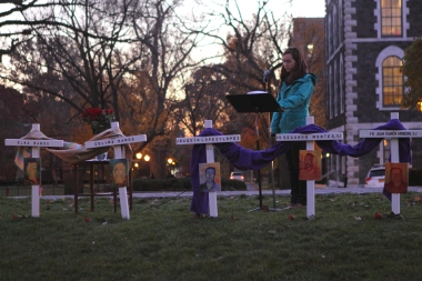 SAMUEL JOSEPH/THE RAM This year's Ignatian Week centered on recognizing and remembering the Salvadoran priests murdered by their own country's milita during the Salvadorian Civil War in the mid to late 20th century. Samuel Joseph/The Ram