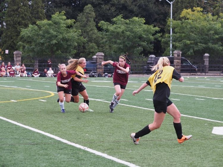 Women's club soccer made it to the quarterfinals before falling to Michigan. Courtesy of Club Women's Soccer