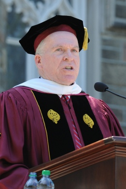 Brennan was awarded an honorary degree in 2012. Courtesy of Flickr