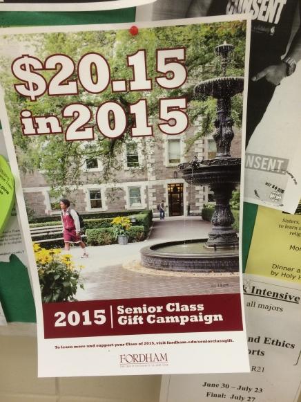 Seniors: Don't Donate ToFordham