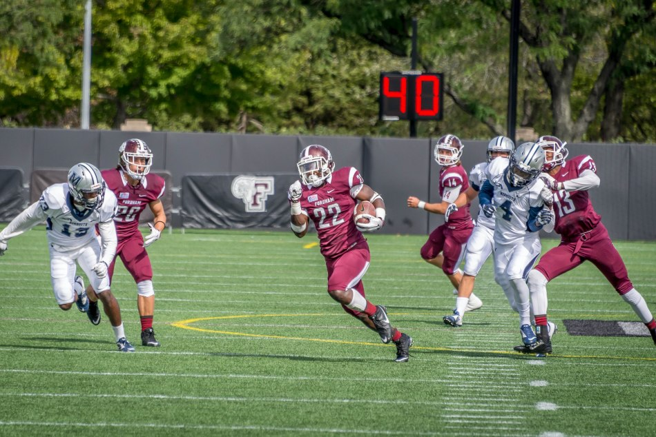 Football Dominates Monmouth at Home