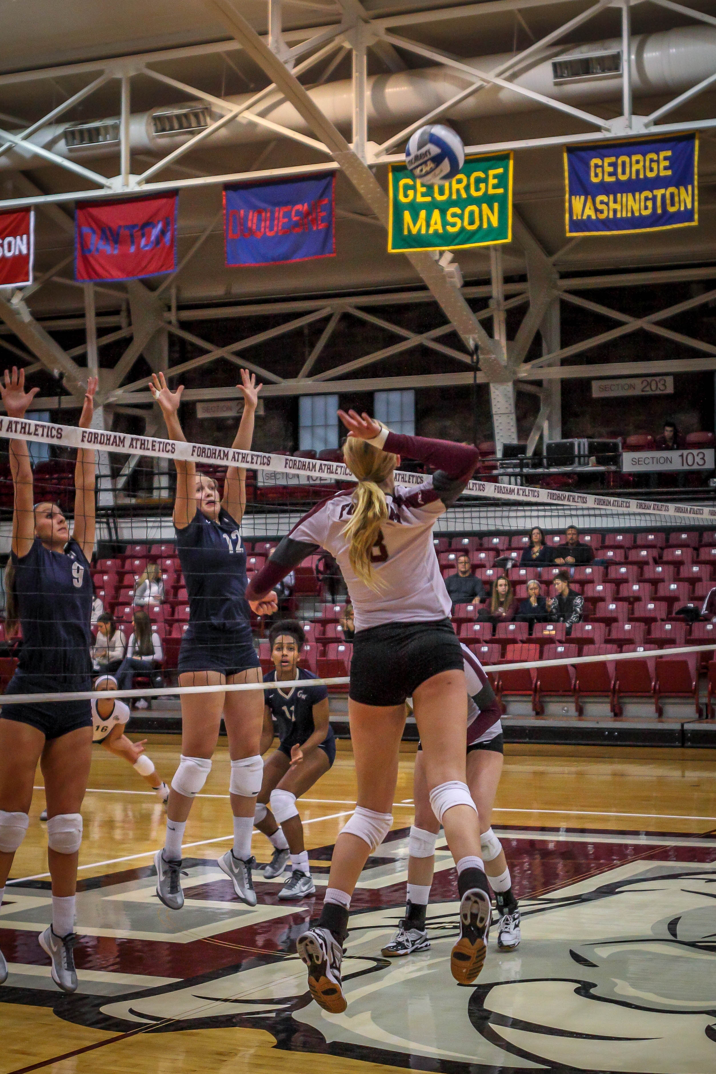 The volleyball team is looking to earn a spot in the A-10 tournament. Samuel Joseph/The Fordham Ram