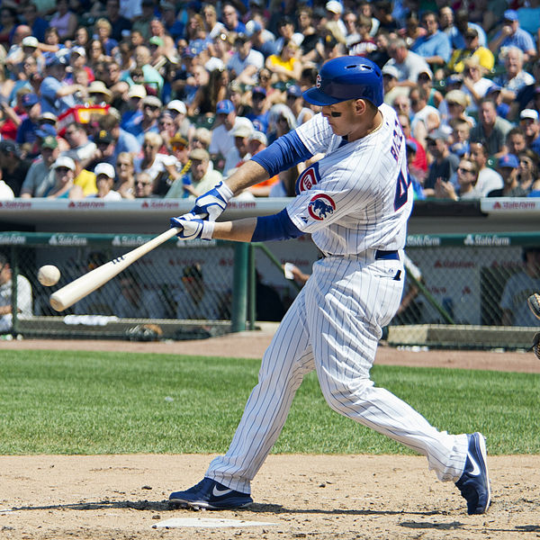 Anthony Rizzo and the Cubs are World Series favorites in 2016. Courtesy of Wikimedia