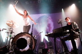 Matt and Kim will be the top-billed Spring Weekend band performing Saturday, April 30. (Caitlyn Ridenour/Wikimedia Commons)