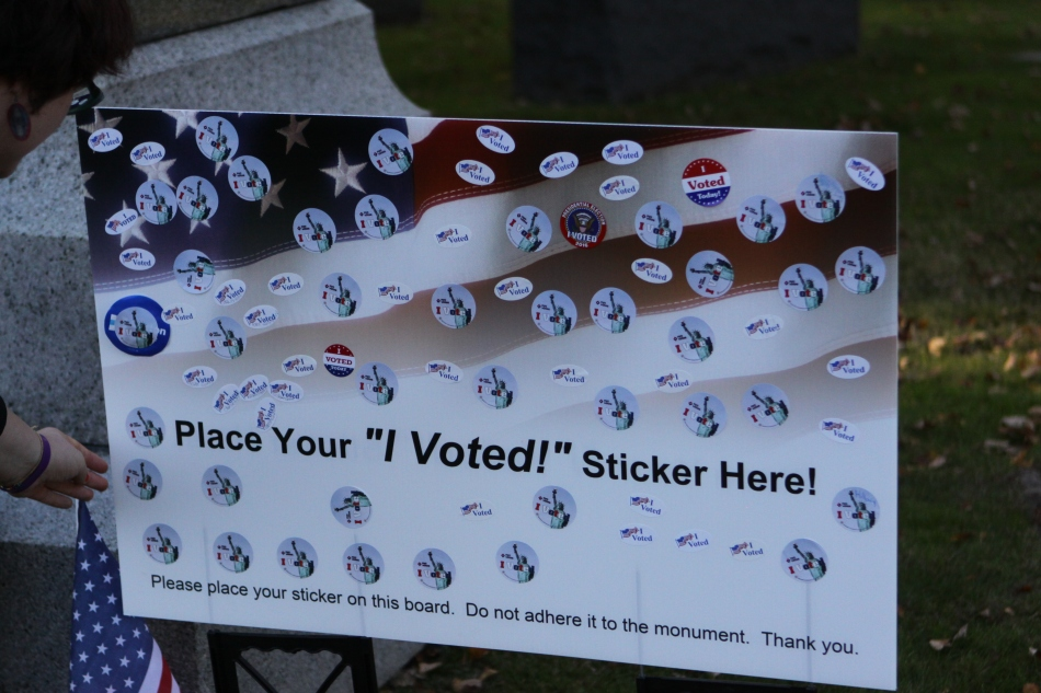 Voters Pay Respect toSuffragist