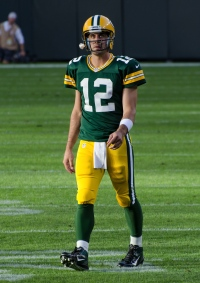Aaron Rodgers is one of the favorites to win the NFL MVP award. (Courtesy of Wikimedia)