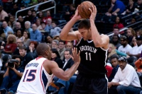 Brook Lopez is one of the core of veterans that have helped the Nets' young players mature but also might move at the deadline. (Courtesy of Flickr)