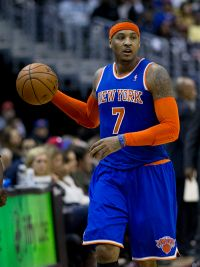 Carmelo Anthony's no-trade clause has put him in control of the Knicks' destiny. (Courtesy of Wikimedia)
