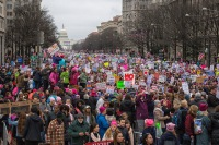 Women gathered around the entire United States to march in solidarity and feminism. (Courtesy of Flickr)