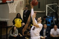 Joseph Chartouny broke the school record for steals in a season on Wedensday, picking up 4 swipes against La Salle (Courtesy of Owen Corrigan/ The Fordham Ram).