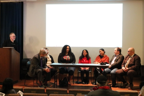 Seven panelists moderated by Dr. Naison discussed race and education. (Julia Comerford / The Fordham Ram)