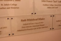 Whaley's legacy lives on with her place in Fordham's Alumni Hall of Honor, a rightful place for the activist. (Andrea Garcia / The Fordham Ram)