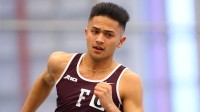 Michael Peterson won the 800m at the Metropolitan Championship. (Courtesy of Fordham Athletics)