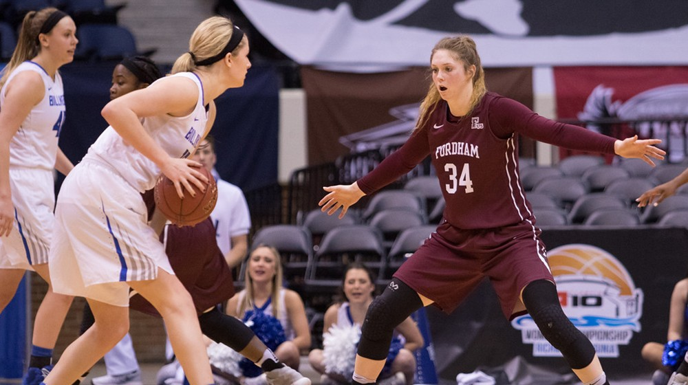 Mary Goulding had her best game of the season in the Rams quarterfinal loss. (Courtesy of Fordham Atheltics)