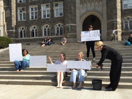 FSU Protests Adjunct UnionBlock